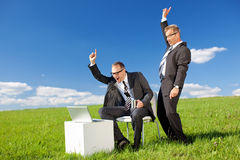Happy businessmen Royalty Free Stock Image