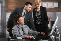 Happy businesspeople Stock Photos