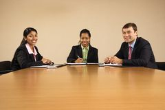 Happy businesspeople. Stock Photography