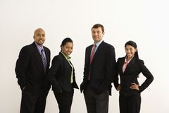 Happy businesspeople. Stock Images