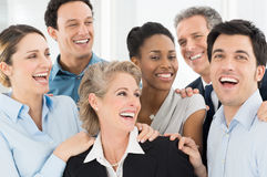Happy Businesspeople Celebrate Royalty Free Stock Photography