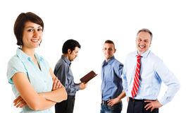 Happy businesspeople group Stock Photos