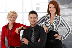 Happy businesspeople portrait Stock Image