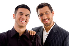 Happy businesspeople standing together Royalty Free Stock Photos