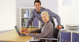 Happy businessteam working in the office Royalty Free Stock Photo