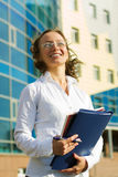 Happy businesswoman. Royalty Free Stock Photography