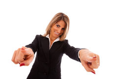 Happy businesswoman Stock Images