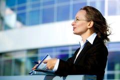 Happy businesswoman. Stock Images