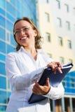 Happy businesswoman. Stock Photos