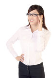 Happy businesswoman Stock Photos