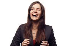 Happy businesswoman royalty free stock images