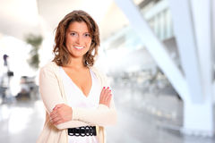 Happy businesswoman royalty free stock photography