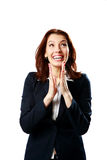 Happy businesswoman applauding Stock Photography