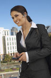 Happy Businesswoman On Call Royalty Free Stock Images