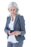 Happy businesswoman calling with smartphone Stock Image