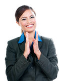 Happy Businesswoman Clapping Hands Royalty Free Stock Photo