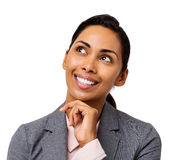 Happy Businesswoman Day Dreaming Stock Image