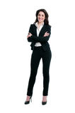 Happy businesswoman full length royalty free stock photo