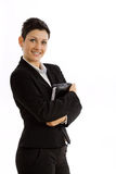 Happy businesswoman isolated Royalty Free Stock Images