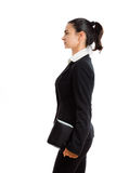 Happy businesswoman isolated Stock Images