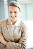 Happy businesswoman laughing Royalty Free Stock Photos