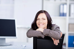 Happy businesswoman Royalty Free Stock Photo