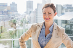 Happy businesswoman looking at camera Stock Photos
