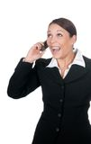 Happy businesswoman with mobile phone Royalty Free Stock Photo