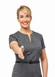 Happy Businesswoman Offering Handshake Royalty Free Stock Photography