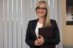 Happy Businesswoman In The Office Stock Photos