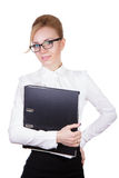 Happy businesswoman with organizer Royalty Free Stock Image