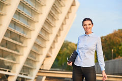 Happy businesswoman outdoor. Stock Photos