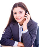 Happy businesswoman on the phone Royalty Free Stock Images
