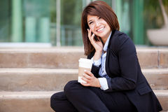 Happy businesswoman on the phone Stock Photography