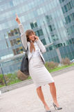Happy businesswoman phone call Royalty Free Stock Images