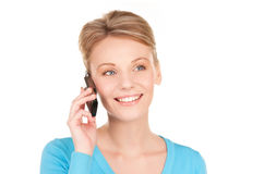 Happy businesswoman with phone Stock Photos
