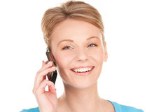 Happy businesswoman with phone Royalty Free Stock Photo