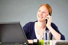 Happy Businesswoman on the Phone Royalty Free Stock Photography
