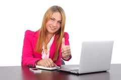 Happy businesswoman Royalty Free Stock Image