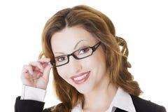 Happy businesswoman portrait Stock Photography
