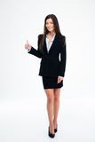 Happy businesswoman showing thumb up Stock Photos