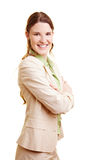 Happy businesswoman from the side Royalty Free Stock Photography