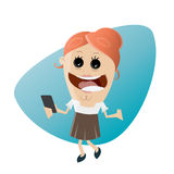 Happy businesswoman with smartphone Royalty Free Stock Images