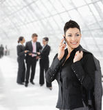 Happy businesswoman talking on mobile Royalty Free Stock Image