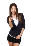 Happy businesswoman on white background Royalty Free Stock Images