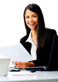 Happy businesswoman at work Royalty Free Stock Photography
