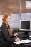 Happy businesswoman working Stock Photos