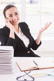 Happy businesswoman. Stock Images