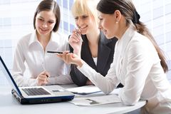 Happy businesswomen Stock Images