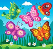 Happy butterflies theme image 2 Royalty Free Stock Image